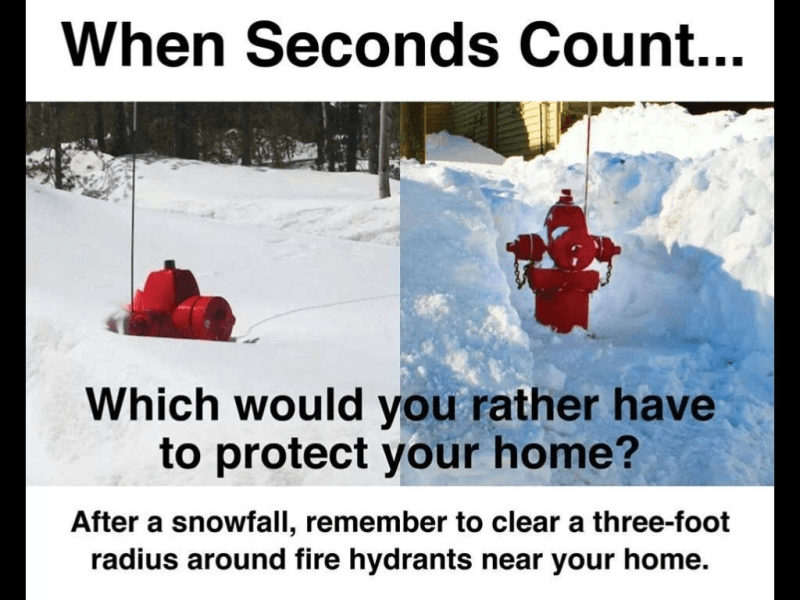 clear hydrants
