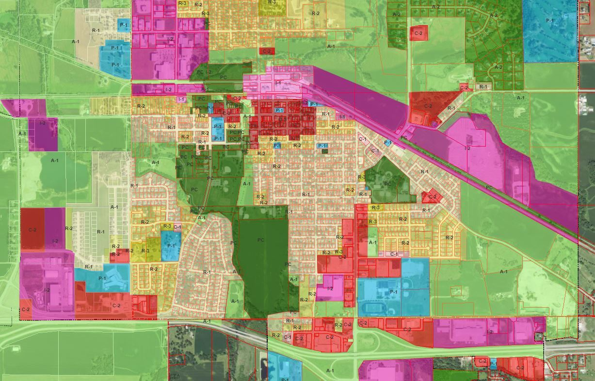 Zoning Map Picture Opens in new window